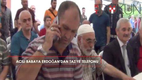 Cumhurbaşkanı Erdoğan'dan şehit ailesine taziye telefonu