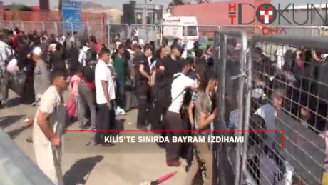 Kilis'te sınır kapısında 'bayram' izdihamı