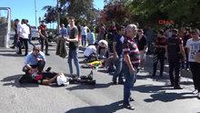 Beyoğlu'nda motosikletli Yunus ekibi kaza yaptı: 2 polis yaralı