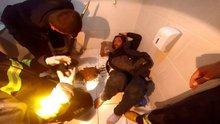 Erzurum'da tuvalet deliğine kolu sıkışan vatandaşı itfaiye ekipleri kurtardı