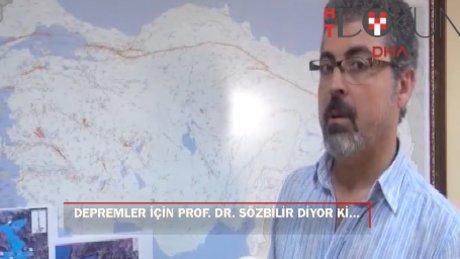 """Prof. Dr. Sözbilir: """"40 km'lik faya 5 adet hendek geliyor"""""""