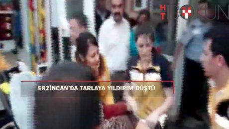 Erzincan'da tarlada çalışanları üzerine yıldırım düştü: 2 ölü