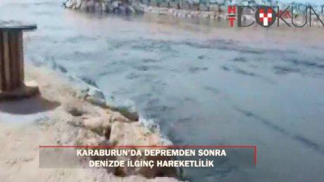 Karaburun'da depremden sonra tsunami yaşanmış