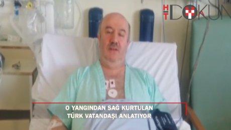 Londra'daki yangında yaralanan Türk taksi şoförü Şener Macit konuştu