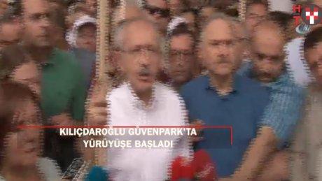 Kılıçdaroğlu'nun yürüyüşü Güvenpark'ta başladı