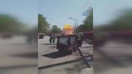 Çin'de anaokulunda patlama anı kamerada!