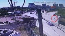 Hafriyat kamyonu dehşeti kamerada