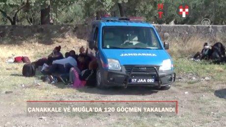 Çanakkale ve Muğla'da 120 göçmen yakalandı