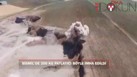 Bismil'de 200 kg patlayıcı imha edildi