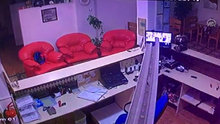 Ege Denizi'ndeki deprem anı kameralara böyle yansıdı