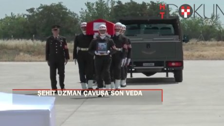 Şehit Uzman Çavuş Ahmet Erol'a son veda