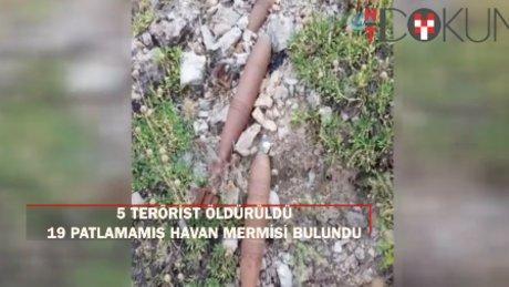 Hakkari'de hava harekatı: 5 PKK'lı öldürüldü