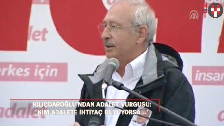 Kılıçdaroğlu: 'Ben kendim için yürümüyorum''