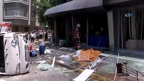 Maltepe'de bir iş yerinde patlama meydana geldi