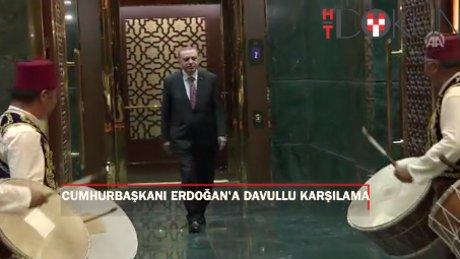Cumhurbaşkanı Erdoğan'a Kırşehirli davulculardan karşılama