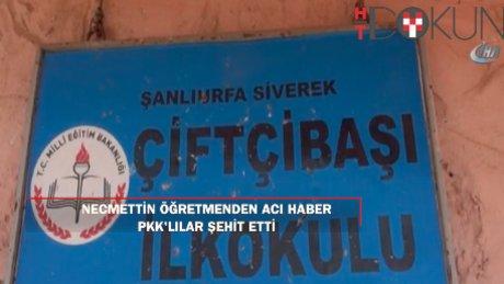 PKK'nın şehit ettiği öğretmenin okulunda yas