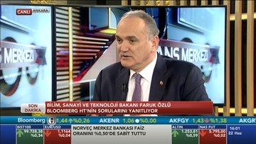 Bakan Faruk Özlü Bloomerberg HT'de konuştu