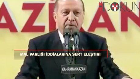 Cumhurbaşkanı Erdoğan'dan mal varlığı iddialarına sert yanıt