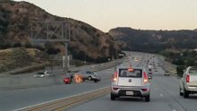 Motorcuyu yoldan çıkarmaya çalışan otomobil sürücüsünün hazin sonu