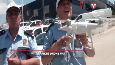 Jandarmadan drone'lu trafik cezası