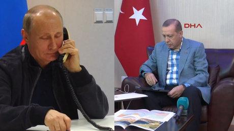Erdoğan ile Putin'in görüşmesi kameralara böyle yansıdı!