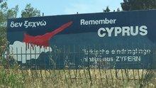 Yunanistan'da 'Kanlı Kıbrıs' haritası
