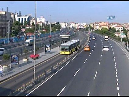 Tatilciler gitti İstanbul'da yollar boş kaldı