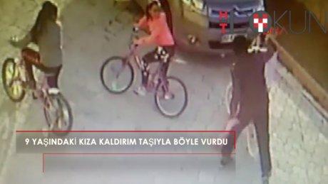 9 yaşında kızın başına kaldırım taşıyla vurdu: Serbest kaldı!