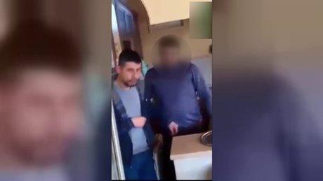Şortlu kıza saldıran ile ilgili şok görüntü