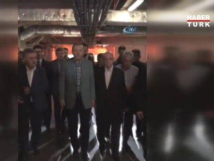 Cumhurbaşkanı Erdoğan Mimar Sinan Camii'den böyle çıktı