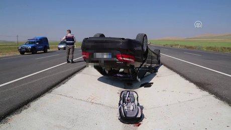 Karaman'da trafik kazası: 1 ölü, 4 yaralı
