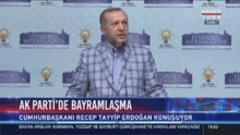 Cumhurbaşkanı Erdoğan partililerle bayramlaşmada konuştu