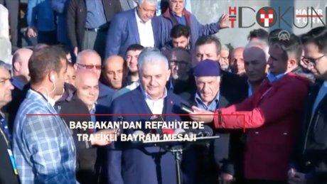 Başbakan Yıldırım'dan trafikli bayram mesajı