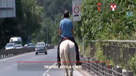 Asfalt kovboyu trafiği alt üst etti