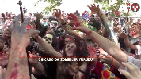 """ABD'nin Chicago kentinde """"zombi yürüyüşü"""""""