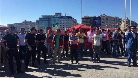 Taksim'de güvenlik önlemi