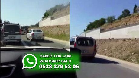 İstanbul Çamlıca'da emniyet şeridi ihlali