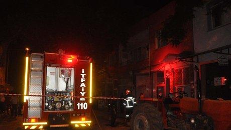 Adıyaman'da Suriyelilerin kaldığı dairede yangın çıktı
