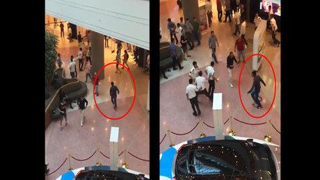 Adana'daki AVM'de bıçaklı dehşet kamerada