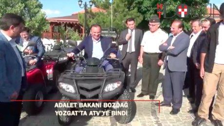 Bakan Bozdağ, Yozgat Çamlığında ATV aracına bindi