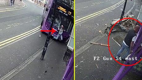 Otobüsün çarptığı adam ayağa kalkıp bara girdi