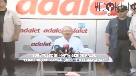 Adalet yürüyüşünde iki hafta geride kaldı: O kamyona 3 bin TL ceza!