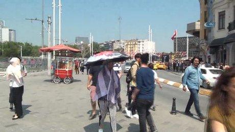 """İstanbul'da termometreler """"39"""" dereceyi gösterdi"""