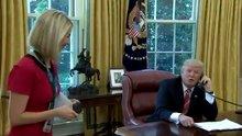 ABD Başkanı Donald Trump kadın muhabire iltifat etti