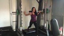 Milli sporcu Selin Nalıncı'nın squat çalışmaları