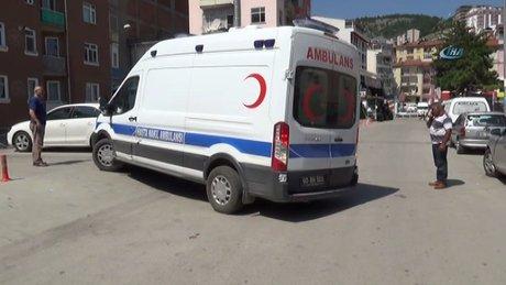 Hasta nakil ambulansında patlama sesi