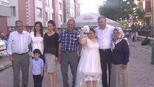 Damatsız da olsa düğün hayaline kavuştu