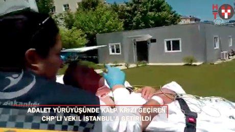 Yürüyüşte kalp krizi geçiren CHP'li vekil tedavi altına alındı