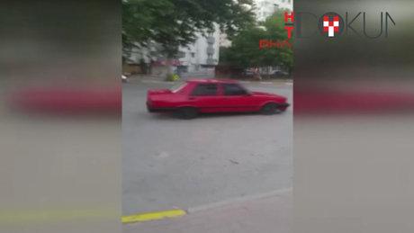 Hastane önünde 'drift'e gözaltı