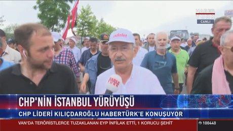 Kılıçdaroğlu'nun, 'Adalet Yürüyüşü'nün 19. günü